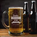 Ljubavna priča poklon čaša za pivo