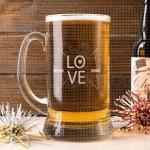 Ljubav poklon čaša za pivo