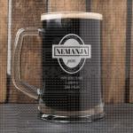 S ljubavlju poklon čaša za pivo
