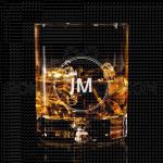 Inicijali sa krunicom poklon čaša za viski