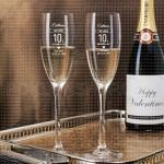 Čestitke za godišnjicu poklon čaša za šampanjac