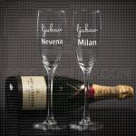 Ljubav dvoje ljudi poklon čaša za šampanjac