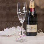 Srećna Nova godina poklon čaša za šampanjac