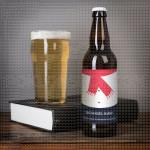 Crveni šal poklon pivo