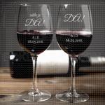 Veridba poklon čaše za vino