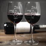 Živi, smej se, voli poklon čaše za vino