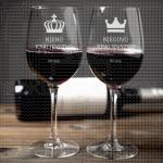 Njihovo kraljevstvo poklon čaše za vino