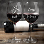 Ljubav poklon čaše za vino