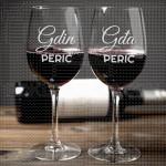 Gospodin i gospođa poklon čaše za vino