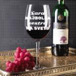 Najbolja sestra na svetu poklon čaše za vino