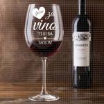 Ljubav uz vino poklon čaša za vino
