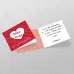 Crvena srce čestitka za godišnjicu braka