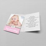 Roze pozivnica za krštenje