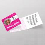 Roze pozivnica za rođendan