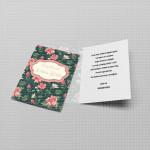 Cvetni dizajin pozivnica za devojačko veče