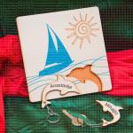 Dva delfina nosači za ključeve