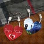 Crveno srce poklon privezak