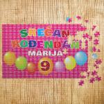 Poklon puzzle srećan rođendan za devojčice