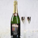 Svećice za rođendan poklon šampanjac