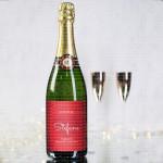 Srce  poklon šampanjac