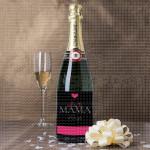 Mama volim te  poklon šampanjac