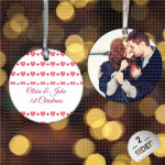 Ljubav i Božić poklon ukras