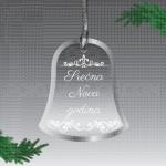 Novogodišnje zvonce poklon ukras