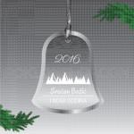 Čestitka na zvoncetu poklon ukras