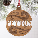 Drveni ukras sa imenom poklon ukras