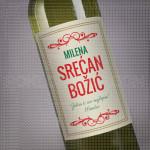 Srećan Božić zelim tebi poklon vino