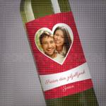 Srecan dan zaljubljenih slika u srcu poklon vino